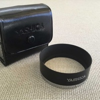 Yashica vintage lens hood with case