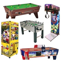 Pool table , flipper , football table , toy capsule , arcade
