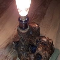 Handmade natural lamp
