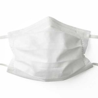 Cotton face mask washable fabric protection