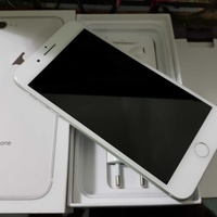 Apple iphone 8 plus 64gb, silver with box and accessories