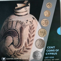 Cyprus 2007 uncirculated coin set in blister