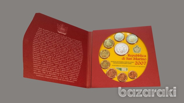 San marino 2007 blister set with token-2