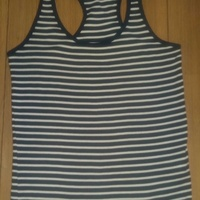 Ladies blue and white striped top