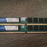 Ram 4gb ddr2 2x2gb 800mhz pc2-6400 cl6 with goldenmars chip