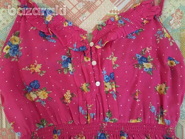 Abercrombie and fitch kids girls floral dress sz l-3