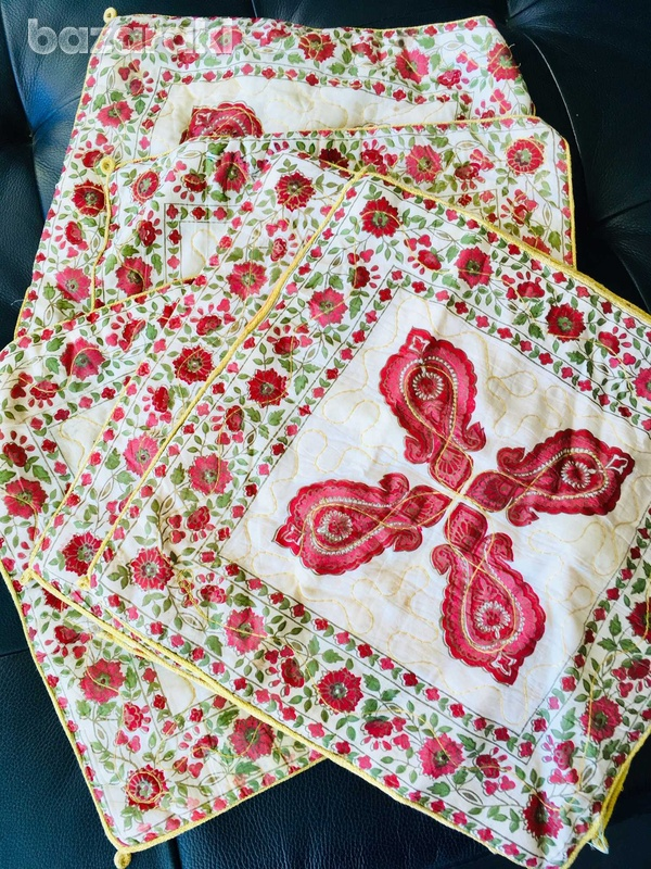 A set of six zipped pillow cases with chinesse ornament-1
