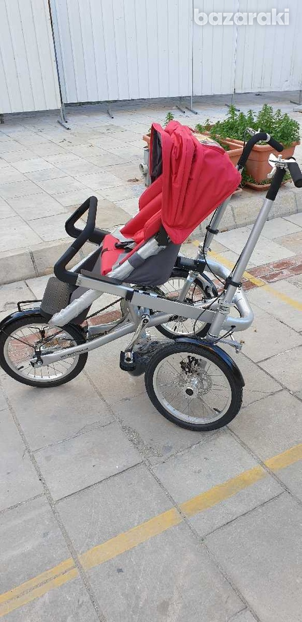 Bicycle and baby pram in one-3