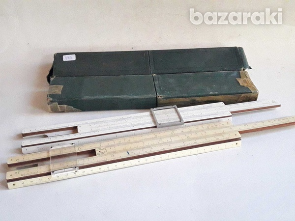 Vintage collectible p.i.c made in england slide rules with case,in ver-1