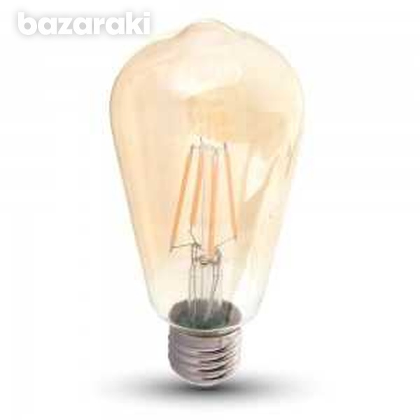 New 6w st64 filament bulb-amber glass with samsung chip
