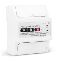 Single phase two wire power consumption watt energy meter