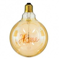 4w decorative led filament lamp with word home