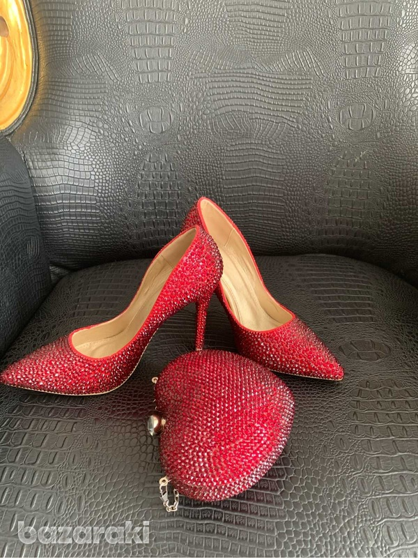 Brand new shoes embellished with swarovski crystals-3