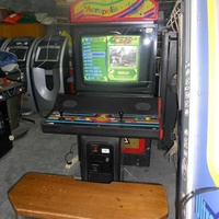 Arcade machine with 28 inch screen and seating