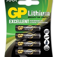 Gp lithium battery aaa pack of 4 656.338uk
