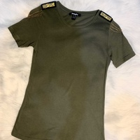 Jennyfer military top with gold chain details