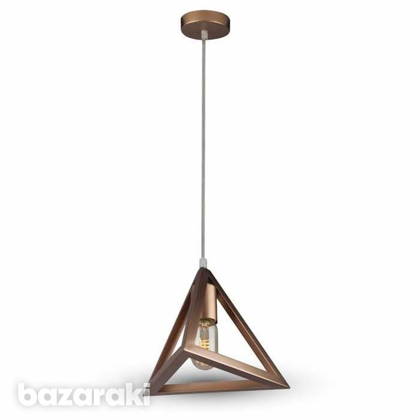Geometric pendant light champagne gold triangle