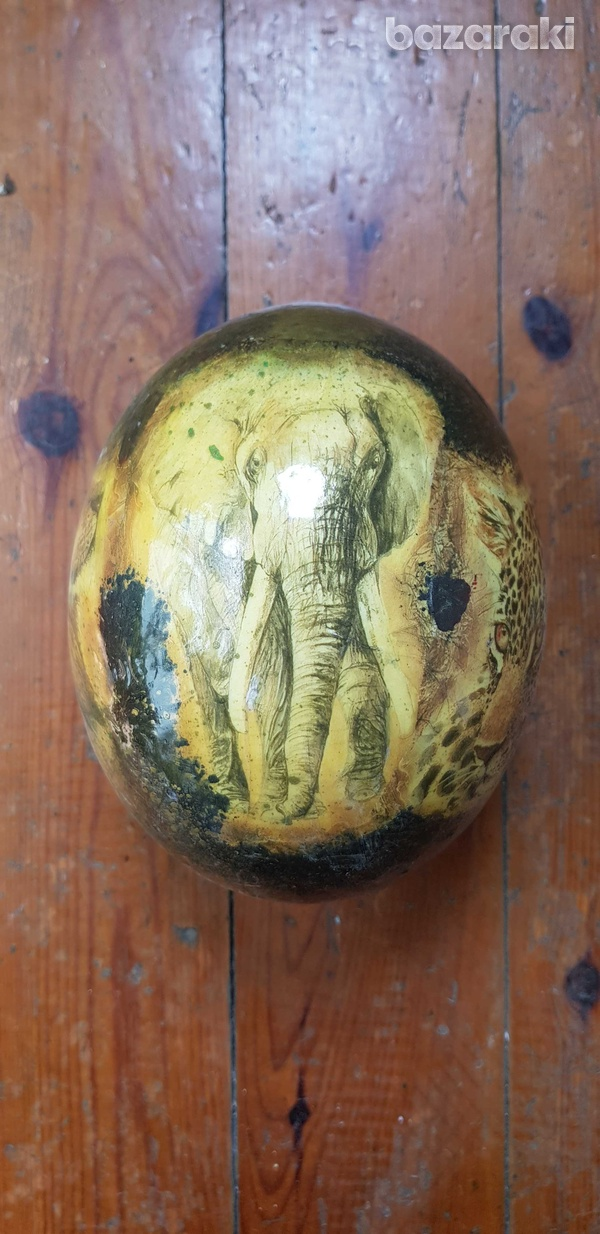 Hand painted ostrich egg-2
