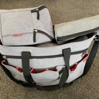 Skip hop diaper bag for twins / double strollers