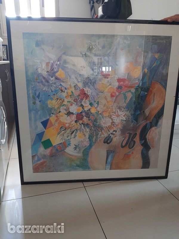 One x one metre print with frame and class-6