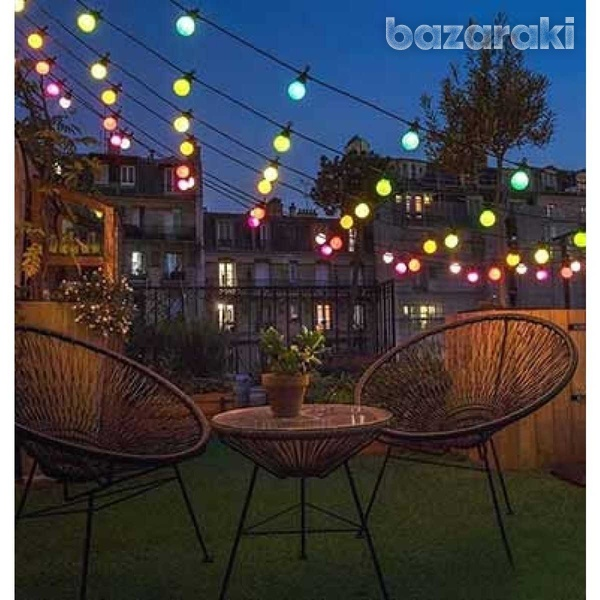 Led string light 5m. 10 x 0.5w eu bulbs rgby-1