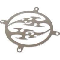 Revoltec 80mm stainless steel fan grill flames