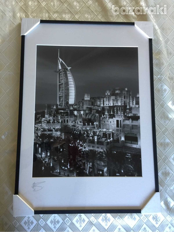 Limited edition fine art photography showing madinat jumeirah at dusk