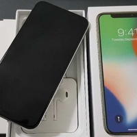 Apple iphone x silver 64gb - with new box and accessories