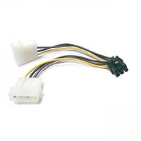 2 x molex 5.25 inch to 6 pin pcie pci-express for graphics cards