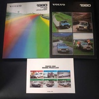 Volvo 1980 brochures with photos specifications and features