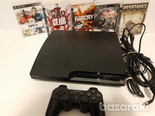 Playstation 3 slim 250gb with 5 games and controller-2
