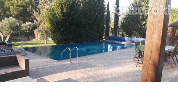 Detached house with big yard, green area, pool,furnished in pyrga-4