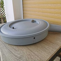 Air filter housing box with lid