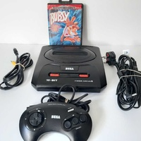Sega megadrive 2 with 1 game and controller