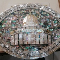 Arabic mecca bound in shell abalone mother of pearl muslim