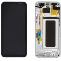 Lcd-complete-frame-samsung-s8-plus-g955-silver-original