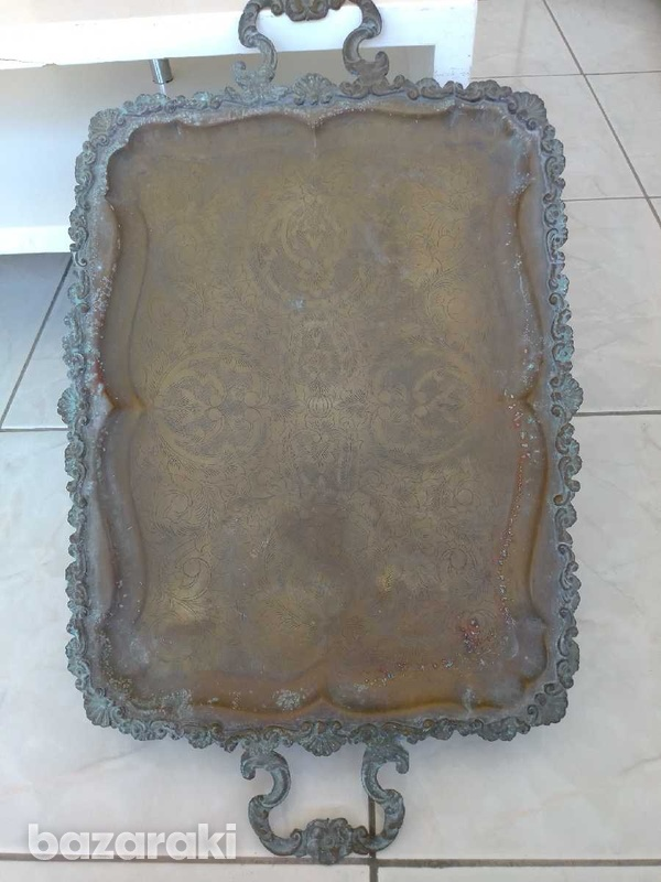 Tray antique from the year 1900.δισκος αντίκα από το έτος 1900.-4
