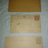 3 old postcards .