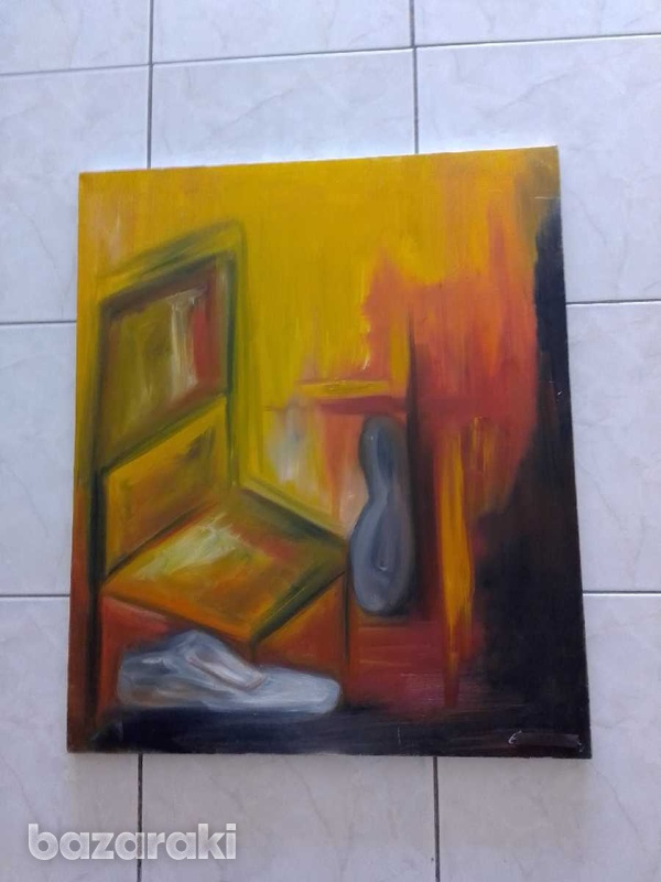Artist original paint 70 x 85 oil on canvas signed by the artist.-1