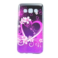 Silicone case for samsung galaxy a3 flowers with heard soft back cover