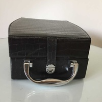 Makeup travel hard case with mirror size 23.5l x 18.5w x 10h cm