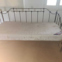 Vintage style bed and mattress