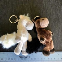 Set of two funny horses charms