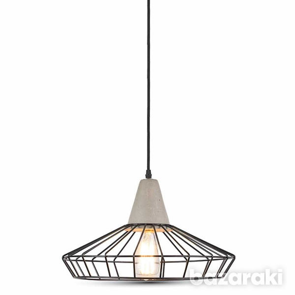 Pendant light concrete+mesh