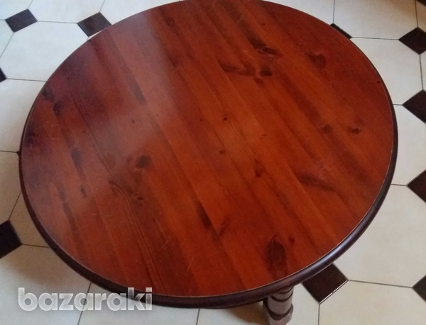 Solid wooden pine rosedale round coffee table-3