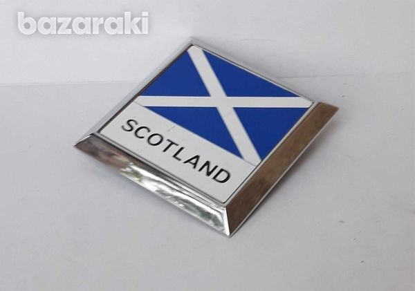 Vintage car badge scotland new never used in very good condition.-2