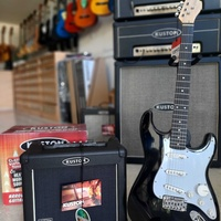 Electric guitar for beginners with amplifier