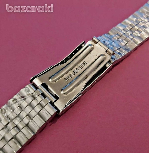 New for seiko jubilee ss bracelet 22m 6309 7002 skx007 dive watch fold-2