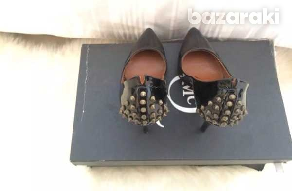Mcq alexander mcqueen studded patent leather pumps black size 35-35.5-7