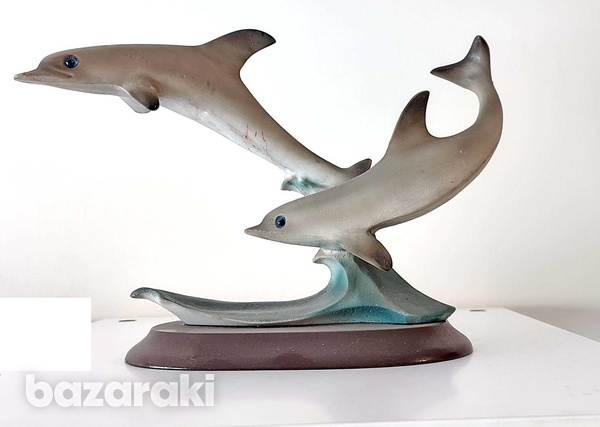 Dolphins small statue-2